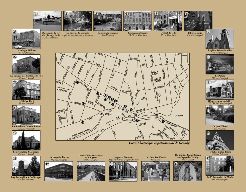 Circuit historique et patrimonial de Granby