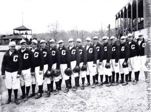 L'équipe de baseball Gran-B de 1935.