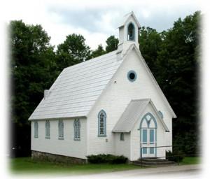 L'église anglicane de Warden Québec.