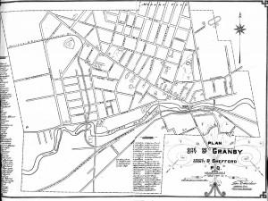 Plan de la cité de Granby, 1941