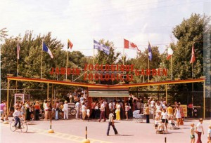Entrée du Zoo de Granby, vers 1970