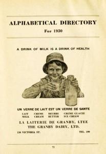 Publicité Laiterie de Granby