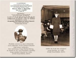 Les modistes Antoinette et Rosa Lambert