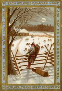 Carte de Noël datant de 1885