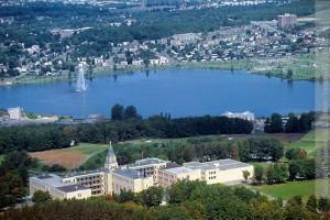 Le lac Boivin des hauteurs du Mont-Sacré-Coeur