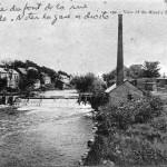 © Lieu de construction du 2e barrage ( parc de la Tannerie). rivière Yamaska, Granby