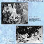 Père Noël visite les enfants des employés du garage Gabriel Lussier, sur le boulevard Leclerc, dans les années 1950