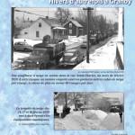 Une souffleuse à neige en action dans la rue Saint-Charles, au mois de février 1959. Granby