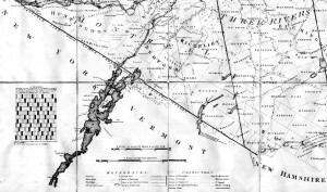 Section de : New Topographical Map of the Province of Lower Canada... William Vondenvelden, Lately ass't surveyor General and Louis Charland, Land Surveyor, 1803, (Archives BAC).
