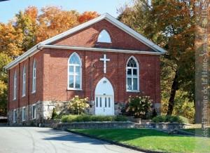 L'église méthodiste de Warden a été construite en 1861-1862. (Photo Marie-Christine Bonneau, SHHY) http://cartemrc.shhy.info/map/45.34527/-72.57119