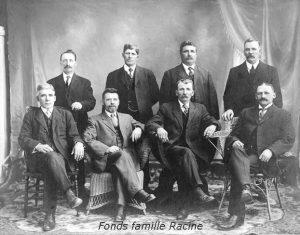Le conseil municipal du canton de Granby de 1914 (Fonds famille Racine, Société d'histoire de la Haute-Yamaska)