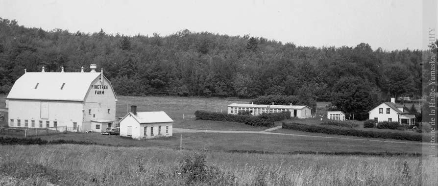 La ferme Miner, vers 1960. (Coll. SHHY, La Voix de l'Est)