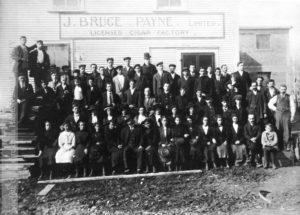 La manufacture de J. Bruce Payne, vers 1910 (Archives SHHY)