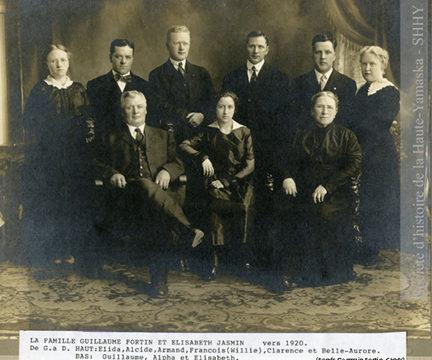 La famille Guillaume Fortin et Élizabeth Jasmin (fonds Germain Fortin, SHHY)