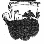 La version originelle des armoiries de la famille Da Caprona présente un aigle et un château à une seule tour. (Archivio di Sato di Firenze, Manoscritti - 635, carta 61)